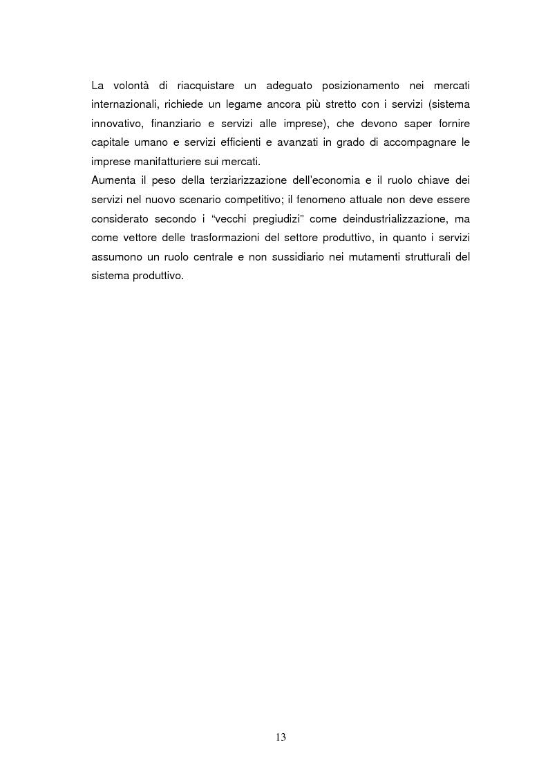 Anteprima della tesi: Le dinamiche di terziarizzazione dell'economia: un'indagine comparata sulla Regione Umbria, Pagina 11