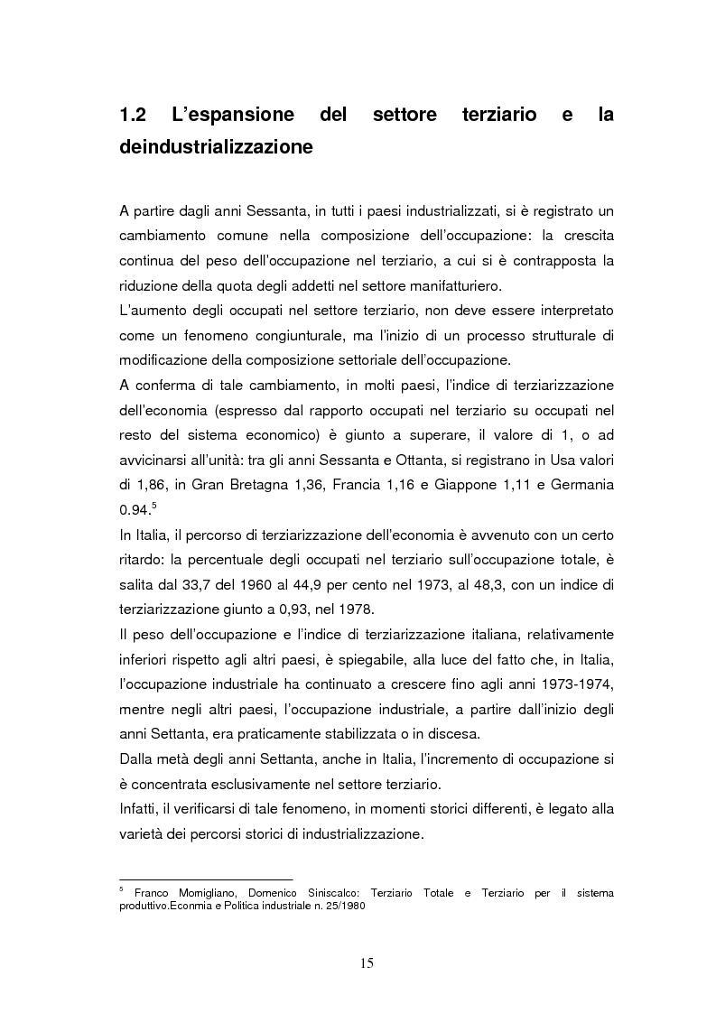 Anteprima della tesi: Le dinamiche di terziarizzazione dell'economia: un'indagine comparata sulla Regione Umbria, Pagina 13