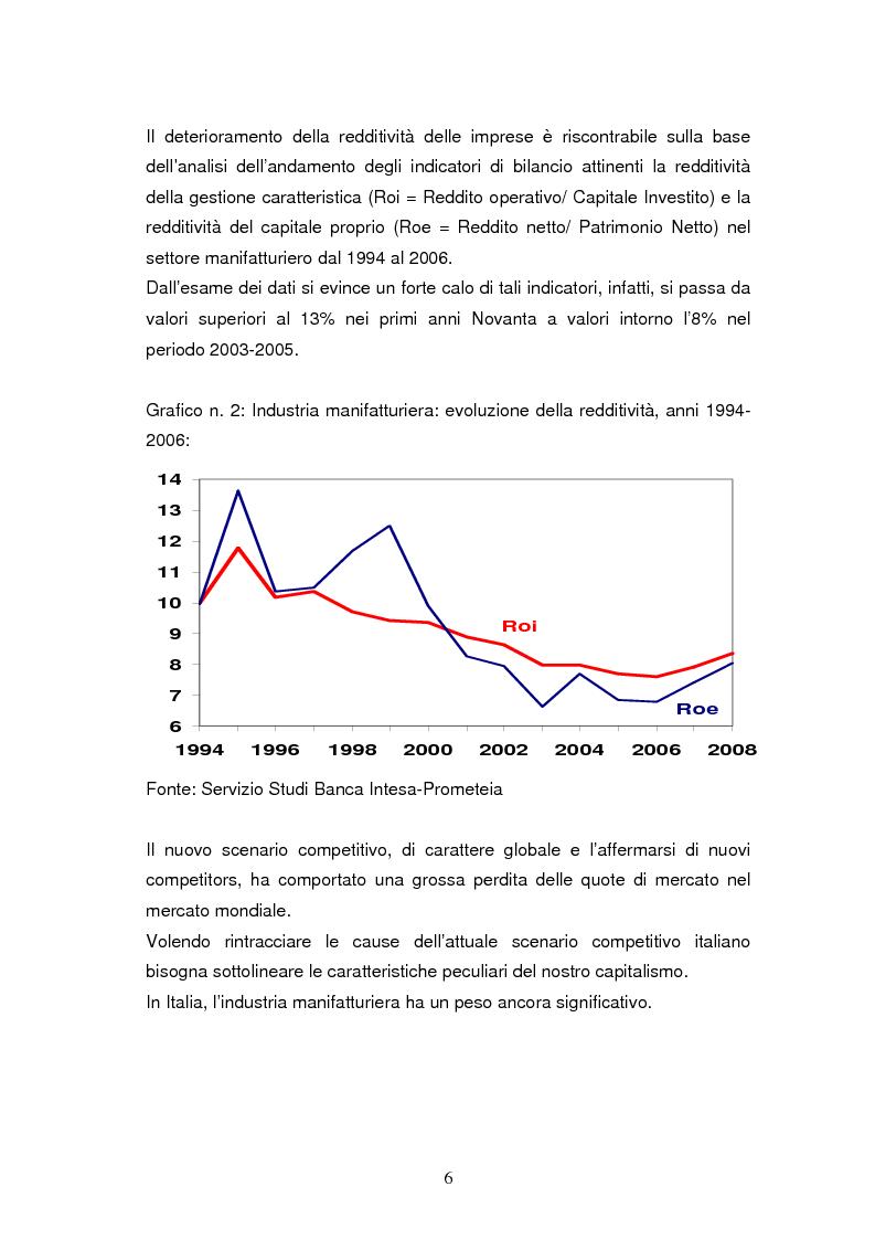 Anteprima della tesi: Le dinamiche di terziarizzazione dell'economia: un'indagine comparata sulla Regione Umbria, Pagina 4