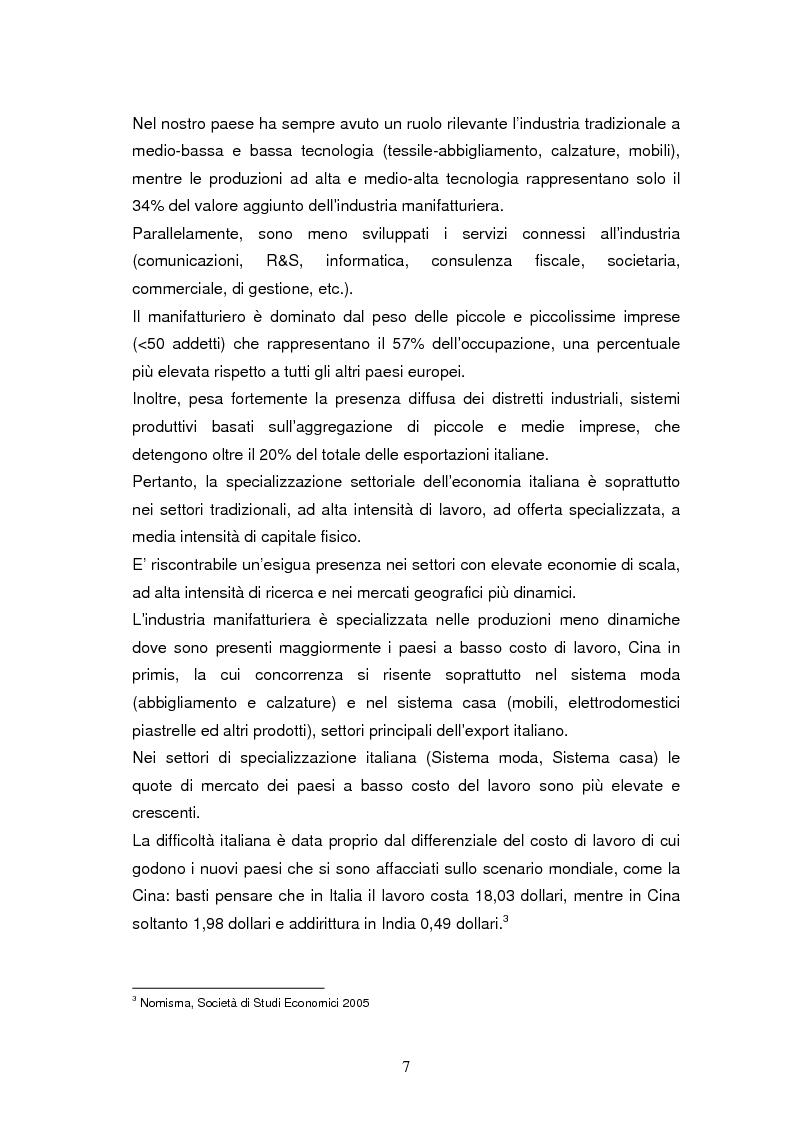 Anteprima della tesi: Le dinamiche di terziarizzazione dell'economia: un'indagine comparata sulla Regione Umbria, Pagina 5