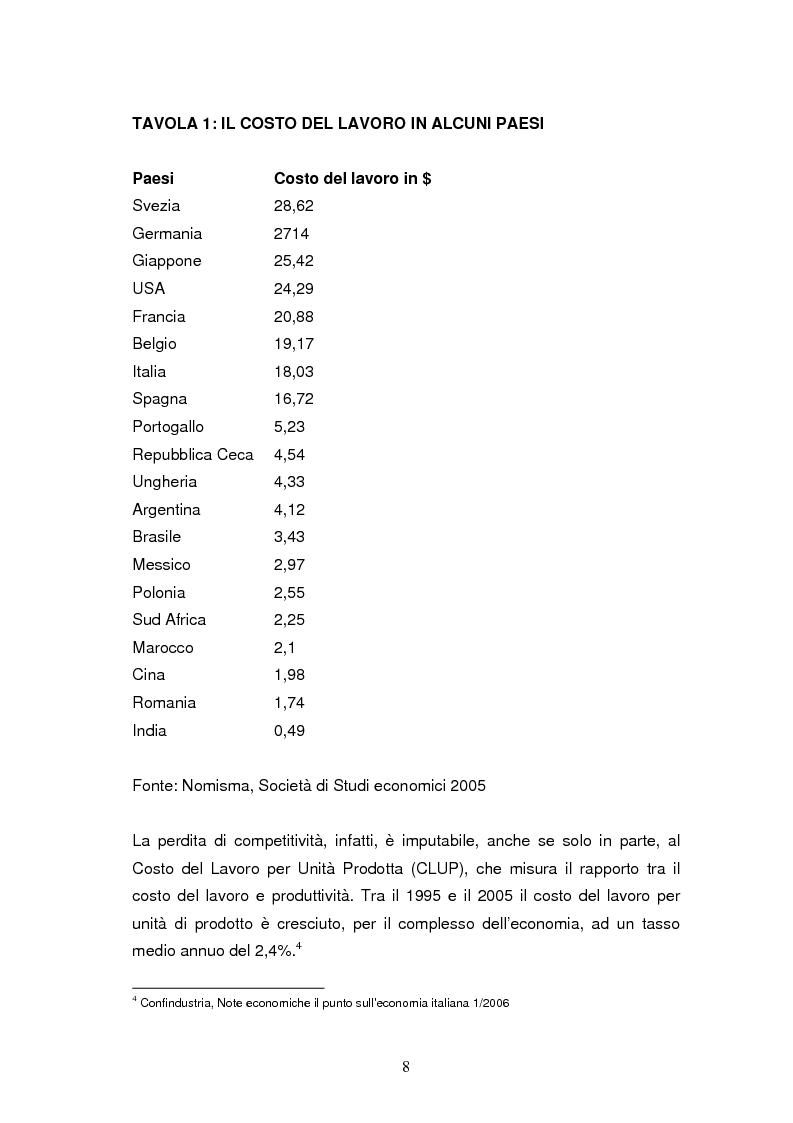 Anteprima della tesi: Le dinamiche di terziarizzazione dell'economia: un'indagine comparata sulla Regione Umbria, Pagina 6