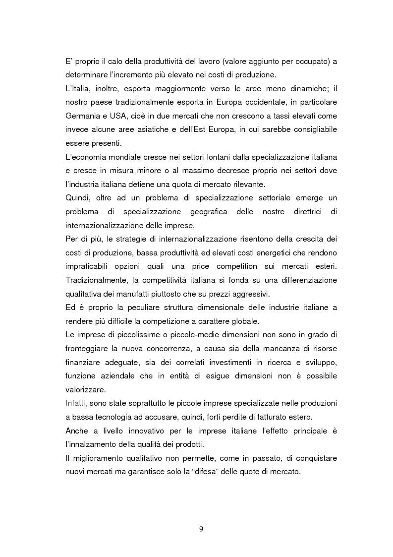 Anteprima della tesi: Le dinamiche di terziarizzazione dell'economia: un'indagine comparata sulla Regione Umbria, Pagina 7