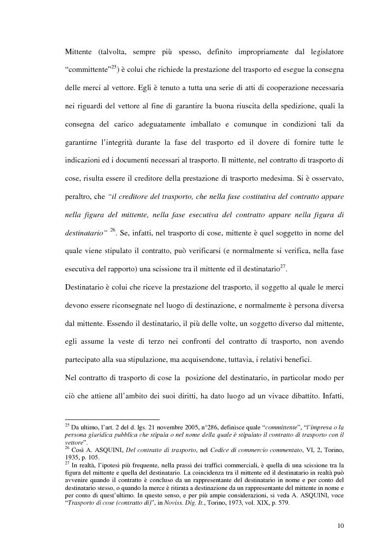 Anteprima della tesi: La responsabilità del vettore stradale di cose per ritardo nella riconsegna, Pagina 10