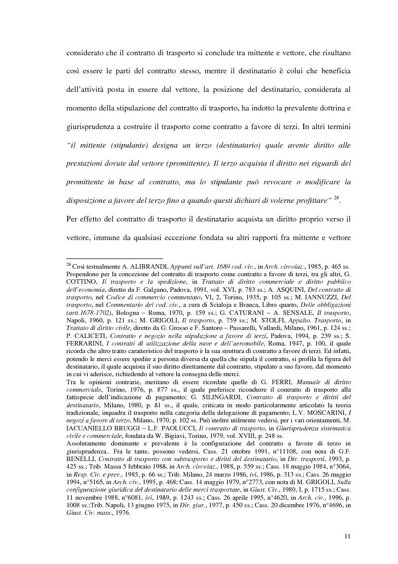 Anteprima della tesi: La responsabilità del vettore stradale di cose per ritardo nella riconsegna, Pagina 11