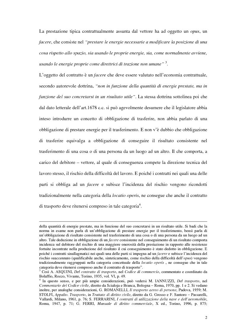 Anteprima della tesi: La responsabilità del vettore stradale di cose per ritardo nella riconsegna, Pagina 2