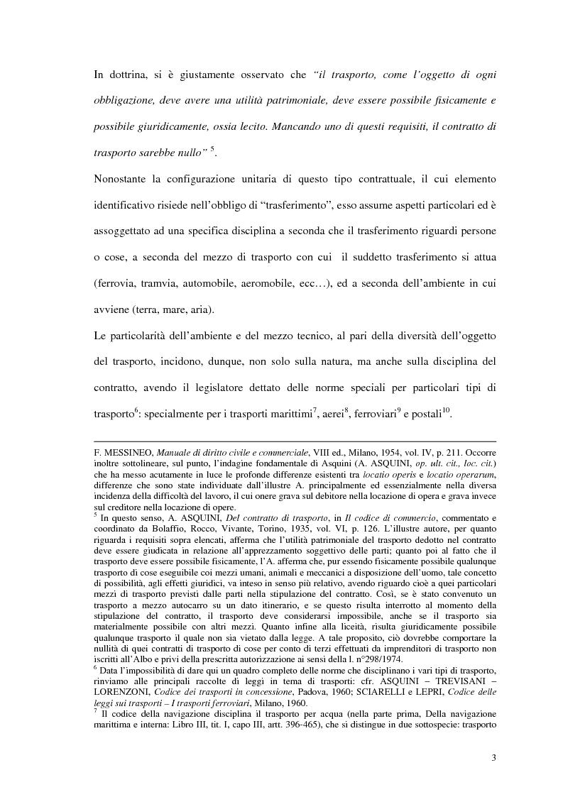 Anteprima della tesi: La responsabilità del vettore stradale di cose per ritardo nella riconsegna, Pagina 3