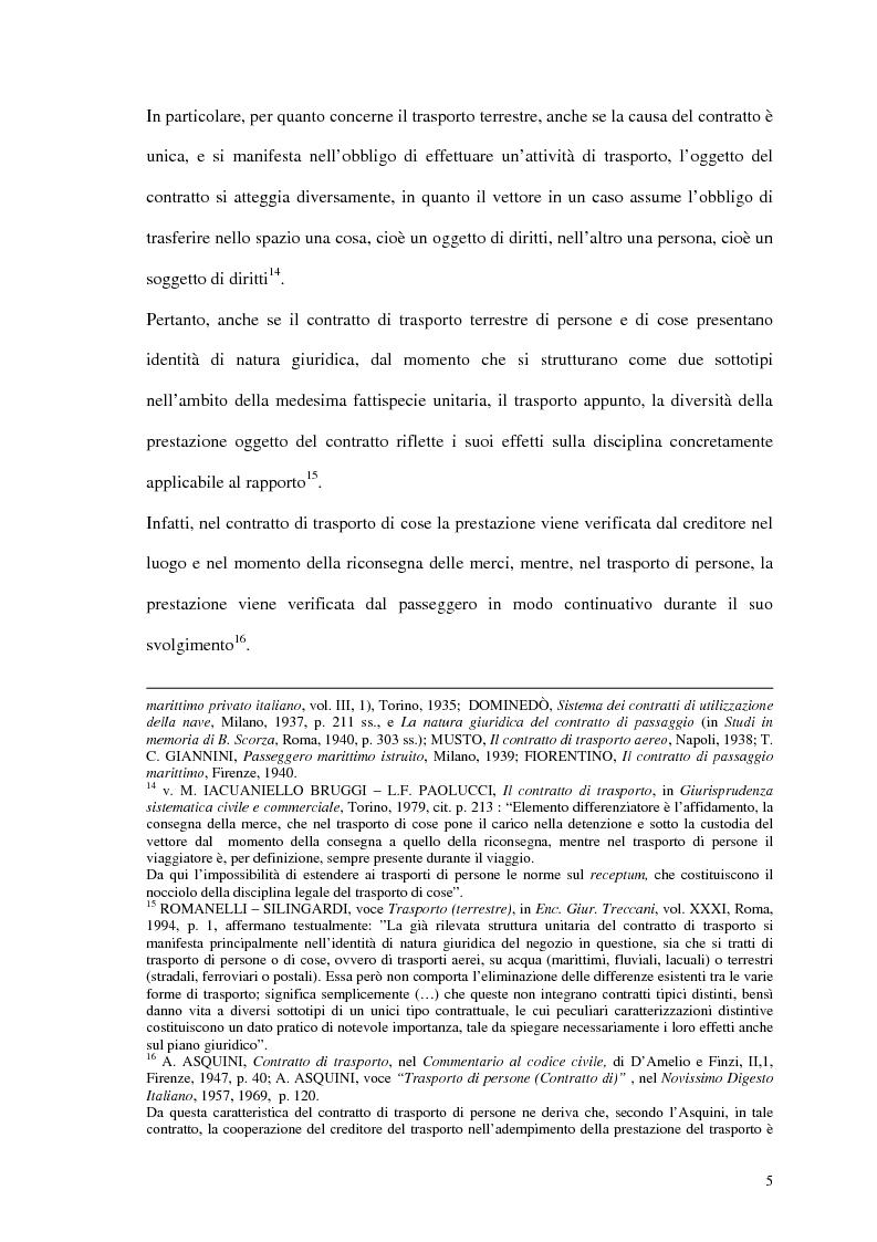 Anteprima della tesi: La responsabilità del vettore stradale di cose per ritardo nella riconsegna, Pagina 5