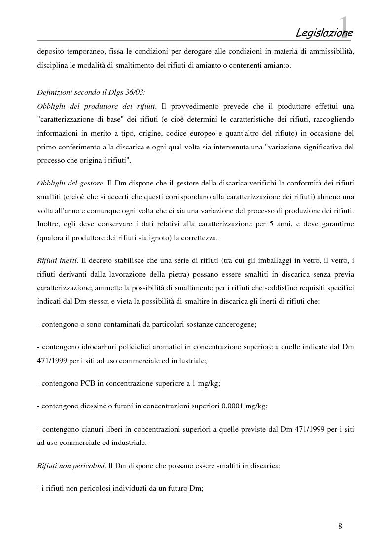 Anteprima della tesi: Interazione tra gli inquinanti e la frazione argillosa del suolo in un sito contaminato soggetto ad opere di bonifica e recupero ambientale, Pagina 6