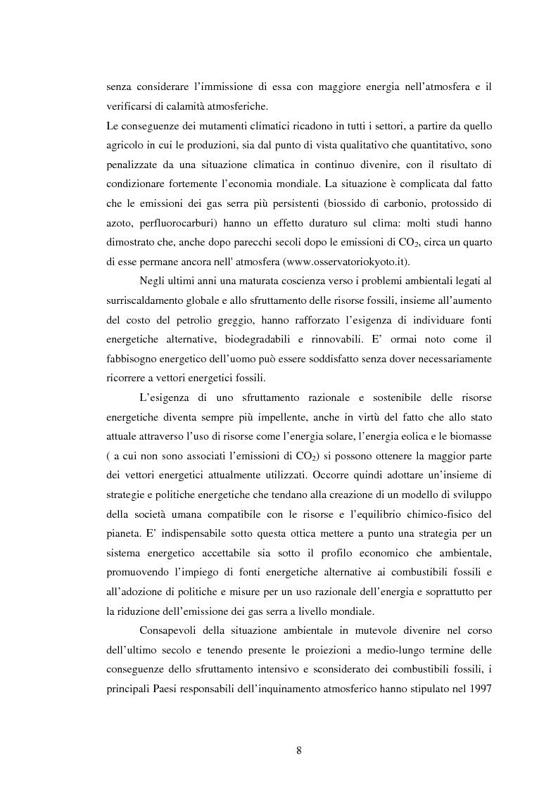 Anteprima della tesi: La sperimentazione di colture energetiche nel Parco dell'Alta Murgia: analisi del processo produttivo della Brassica Carinata, Pagina 6