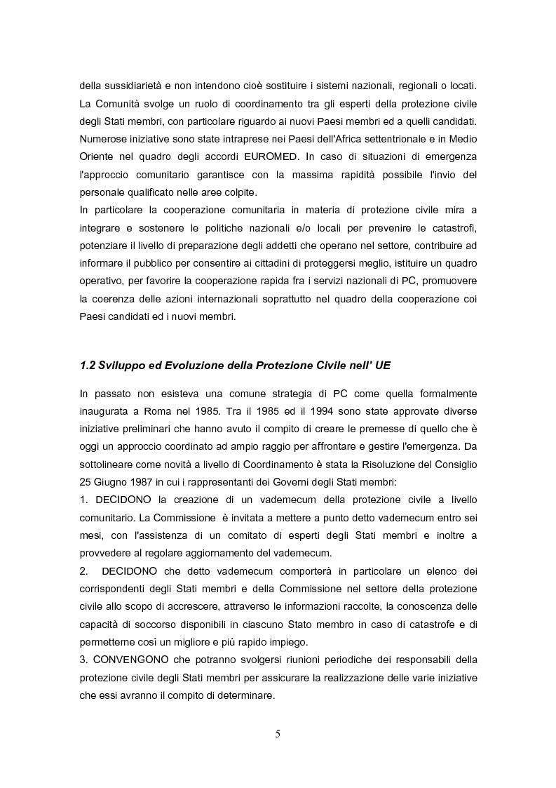 Anteprima della tesi: La protezione civile nell'Unione Europea, Pagina 3