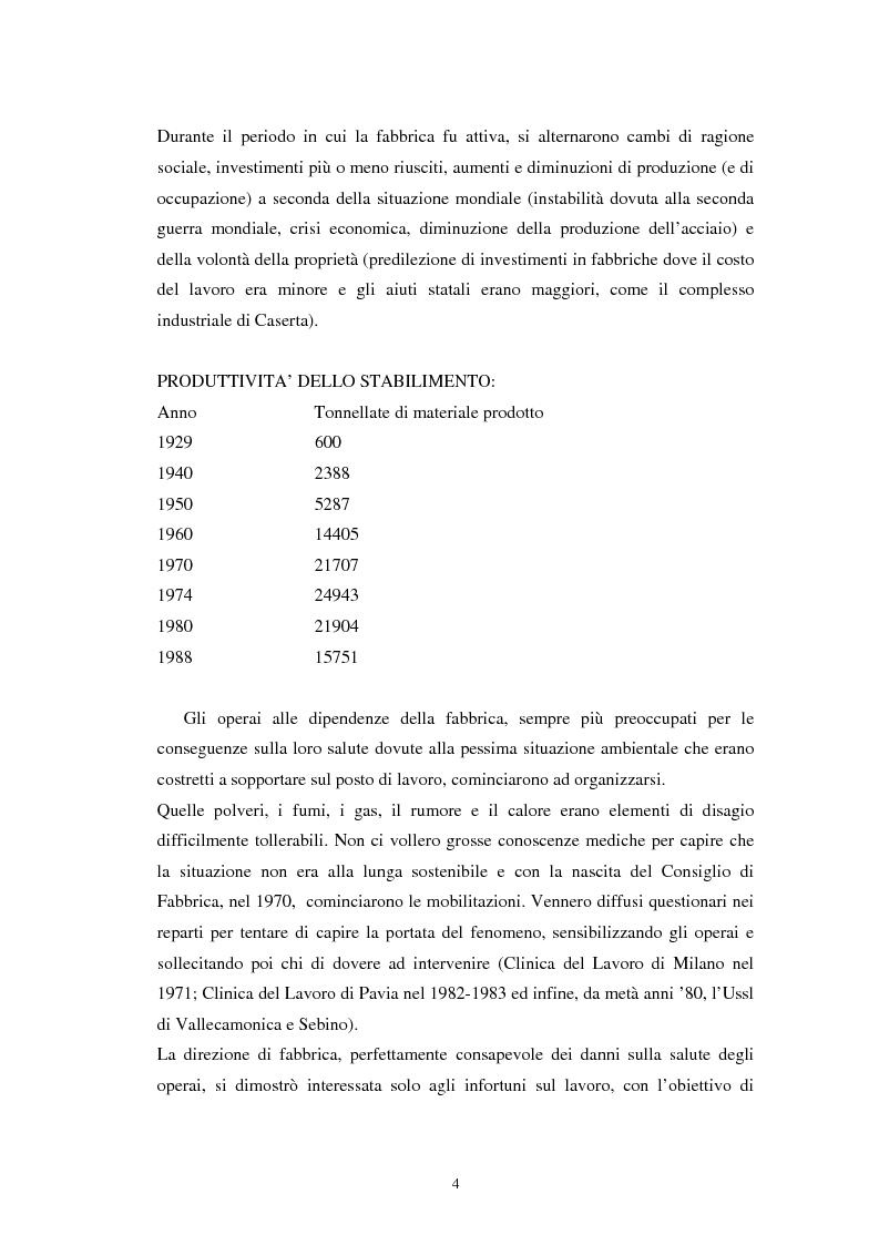 Anteprima della tesi: Inquinamento sull'uomo e sull'ambiente della Ucar Carbon di Forno Allione (BS), Pagina 2