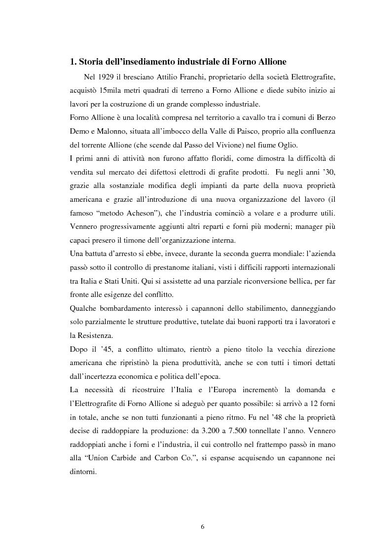 Anteprima della tesi: Inquinamento sull'uomo e sull'ambiente della Ucar Carbon di Forno Allione (BS), Pagina 4