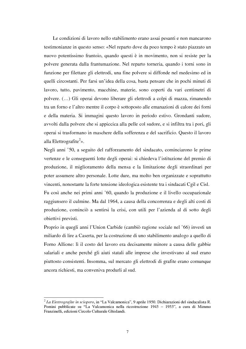 Anteprima della tesi: Inquinamento sull'uomo e sull'ambiente della Ucar Carbon di Forno Allione (BS), Pagina 5