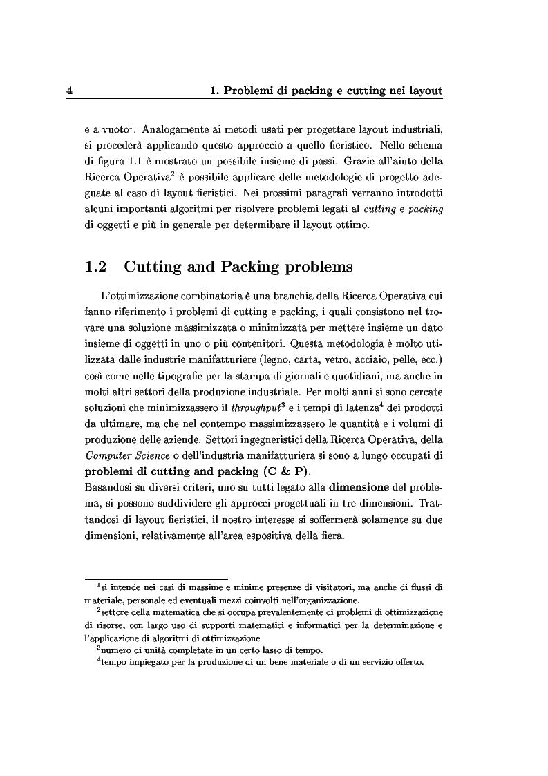 Anteprima della tesi: Modelli e algoritmi per l'ottimizzazione di layout fieristici, Pagina 6
