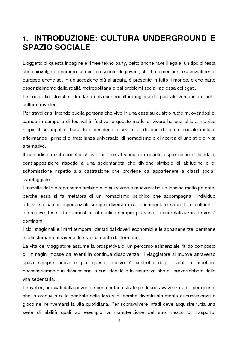 Anteprima della tesi: Il rave come fenomeno metropolitano: un'analisi antropologica, Pagina 1