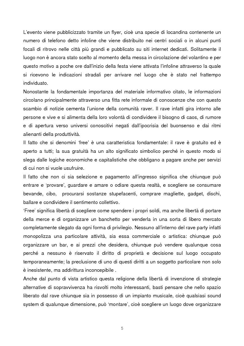 Anteprima della tesi: Il rave come fenomeno metropolitano: un'analisi antropologica, Pagina 3