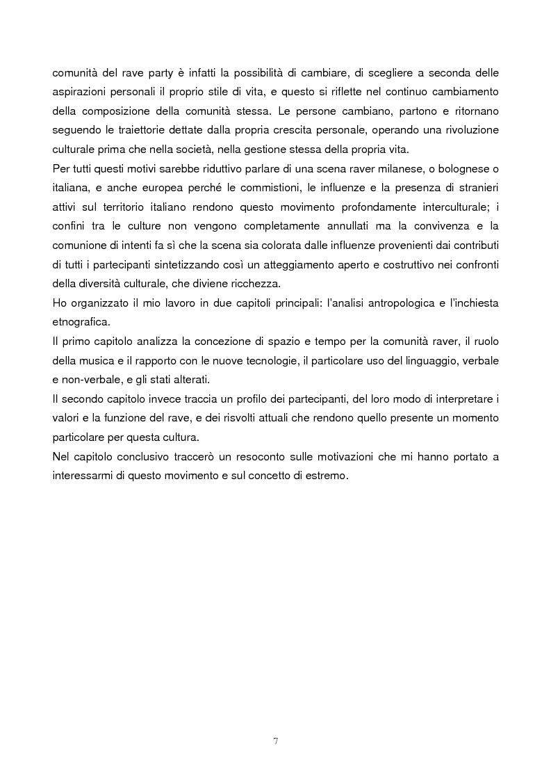 Anteprima della tesi: Il rave come fenomeno metropolitano: un'analisi antropologica, Pagina 5