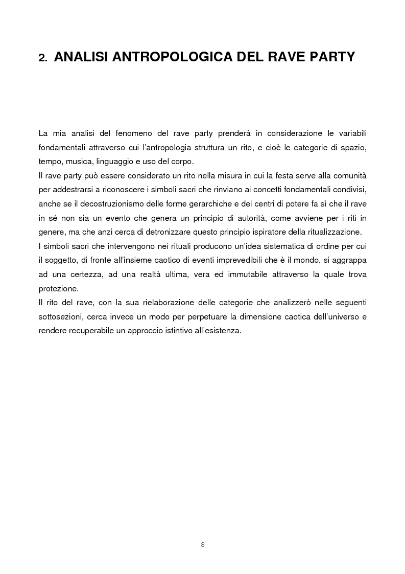 Anteprima della tesi: Il rave come fenomeno metropolitano: un'analisi antropologica, Pagina 6