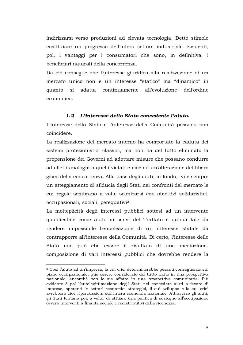 Anteprima della tesi: Gli aiuti di stato per il salvataggio e la ristrutturazione di imprese in difficoltà: il caso Alitalia, Pagina 5