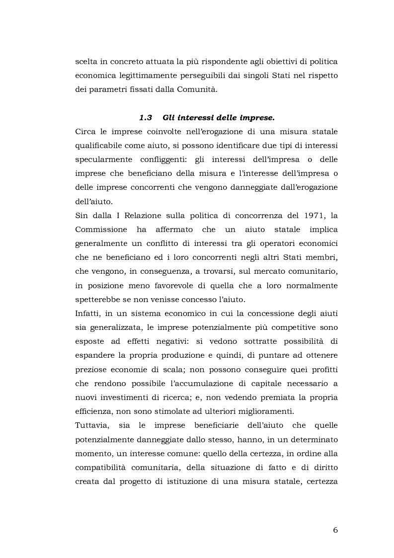 Anteprima della tesi: Gli aiuti di stato per il salvataggio e la ristrutturazione di imprese in difficoltà: il caso Alitalia, Pagina 6