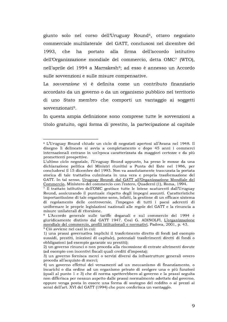 Anteprima della tesi: Gli aiuti di stato per il salvataggio e la ristrutturazione di imprese in difficoltà: il caso Alitalia, Pagina 9