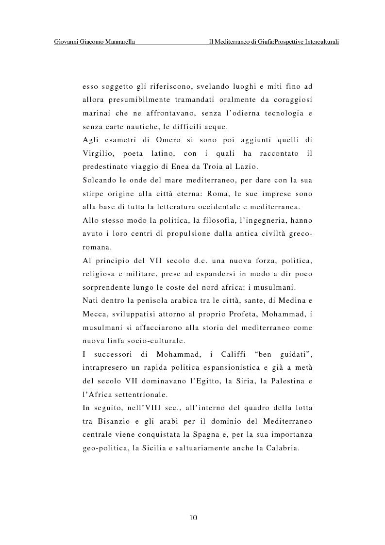Anteprima della tesi: Il Mediterraneo di Giufà: prospettive interculturali, Pagina 6