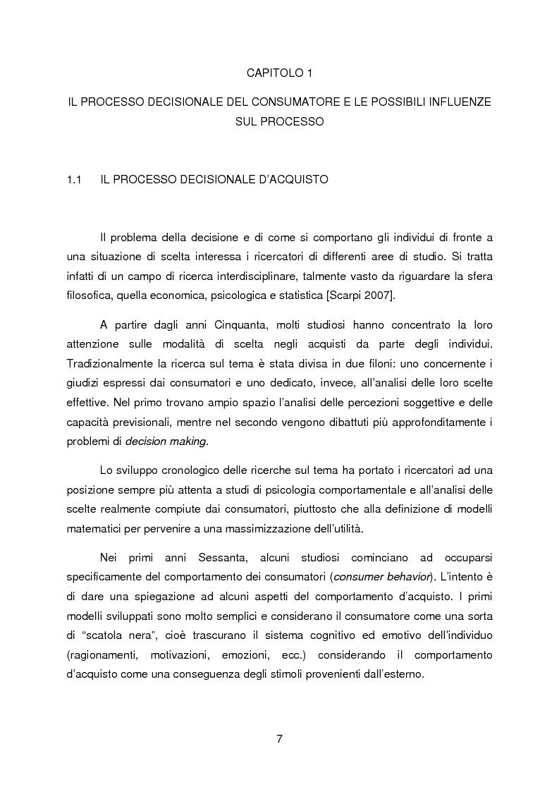 Anteprima della tesi: La propensione all'indebitamento: fattori razionali ed emotivi nel processo decisionale del consumatore, Pagina 3