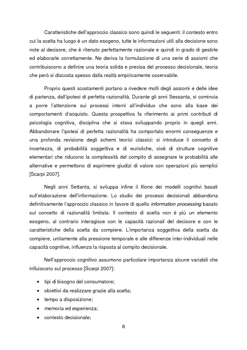 Anteprima della tesi: La propensione all'indebitamento: fattori razionali ed emotivi nel processo decisionale del consumatore, Pagina 4