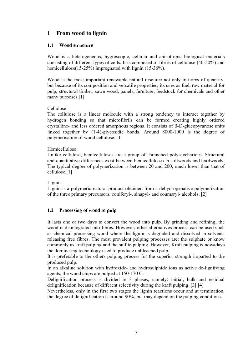 Anteprima della tesi: Produzione di fenoli da cracking catalitico della lignina - Catalytic Hydrocracking of Lignin for Phenols Production, Pagina 6
