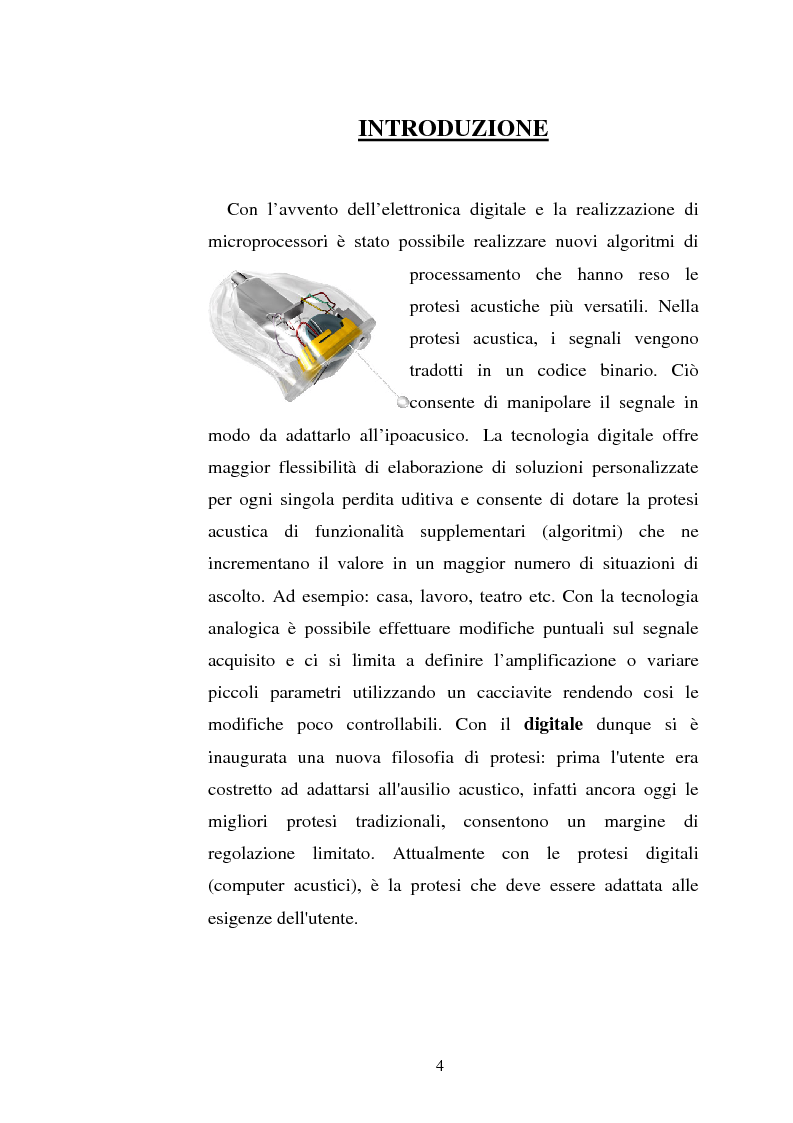 Anteprima della tesi: Protesi digitali e sistemi di riduzione del rumore ambientale, Pagina 1