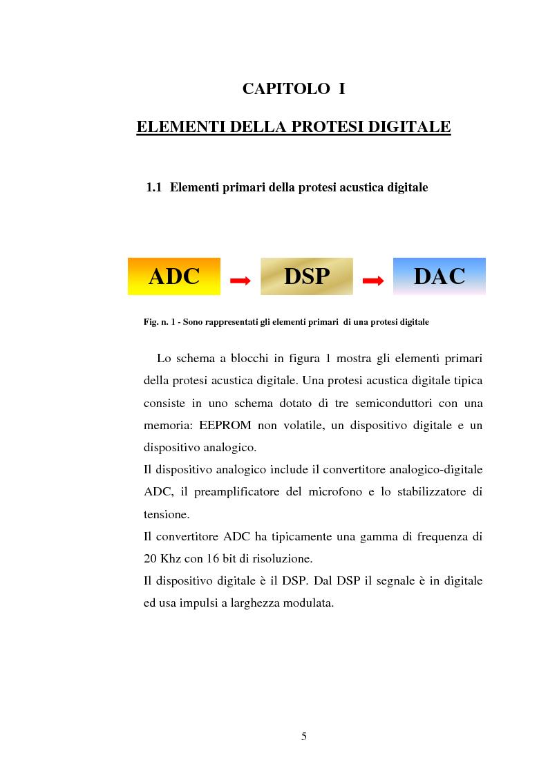 Anteprima della tesi: Protesi digitali e sistemi di riduzione del rumore ambientale, Pagina 2