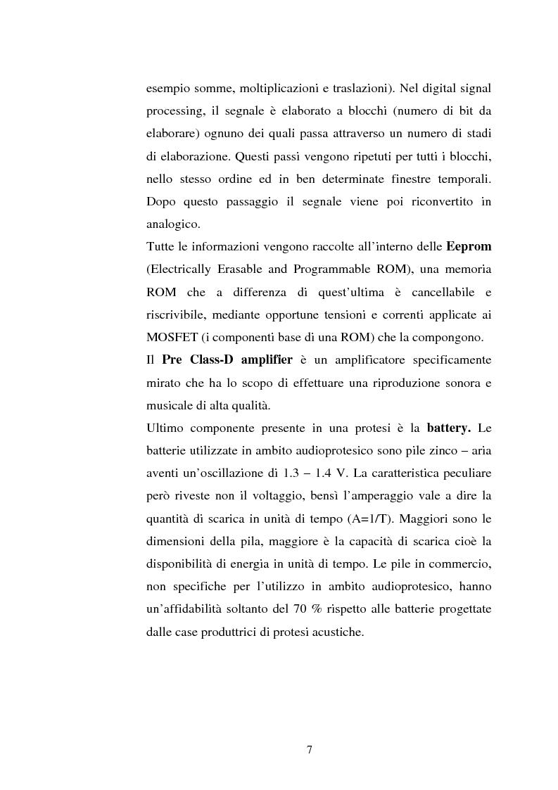 Anteprima della tesi: Protesi digitali e sistemi di riduzione del rumore ambientale, Pagina 4