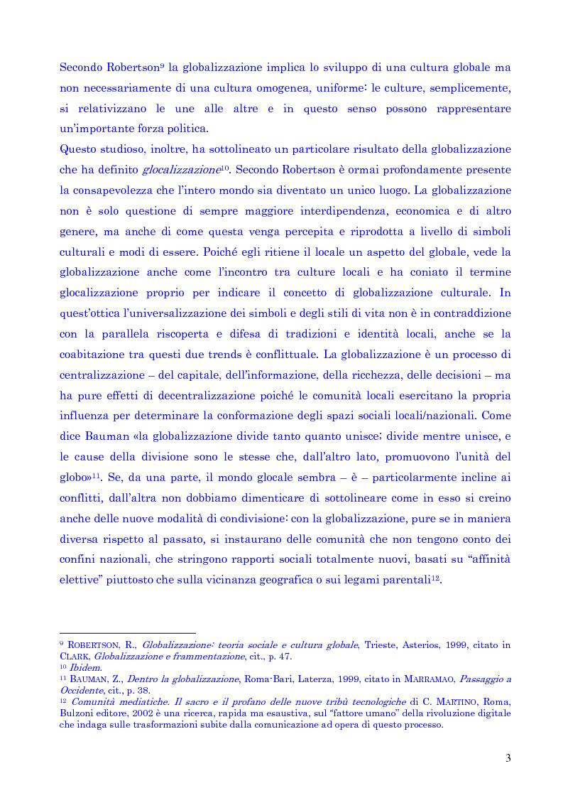 Anteprima della tesi: Il concetto di spazio nell'era della globalizzazione, Pagina 3