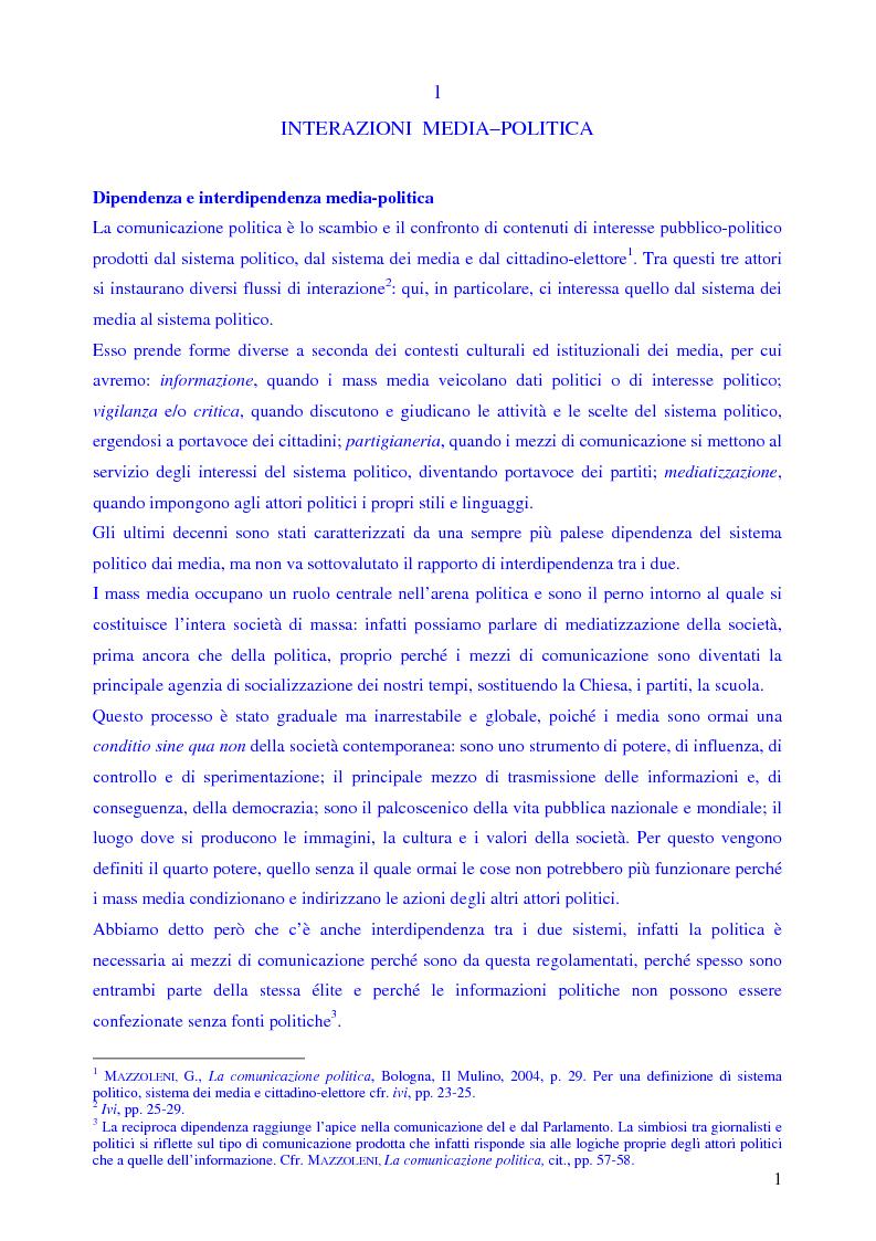 Anteprima della tesi: Le campagne elettorali italiane del 1994 e del 1996. Un'analisi comparata., Pagina 3