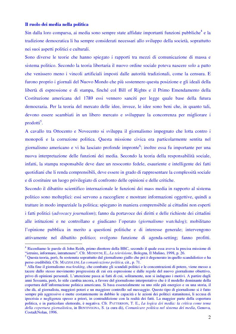 Anteprima della tesi: Le campagne elettorali italiane del 1994 e del 1996. Un'analisi comparata., Pagina 4