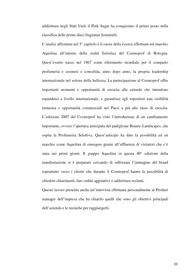 Anteprima della tesi: Nuove strategie comunicative: il gruppo Aquolina, Pagina 4