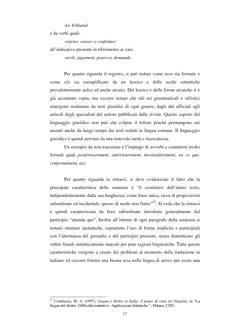 Anteprima della tesi: Teoria e pratica della traduzione: la filiazione e le sentenze del ''Journal del tribunaux'', Pagina 13