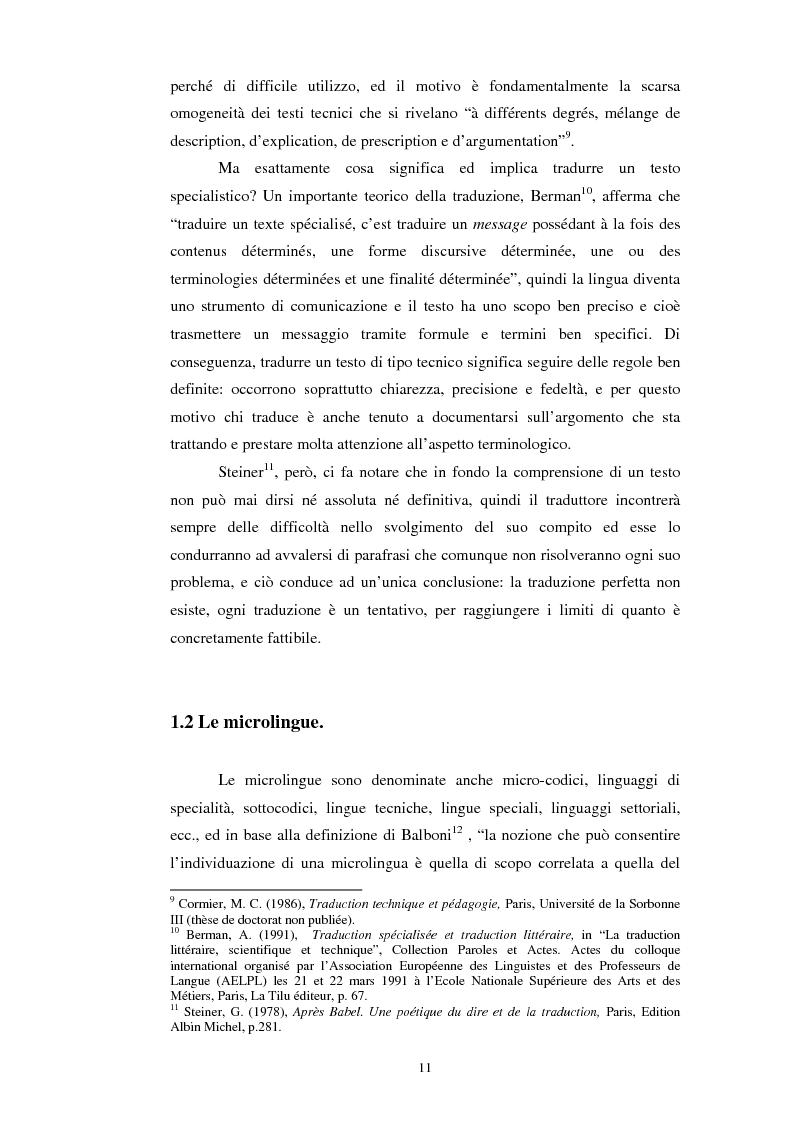 Anteprima della tesi: Teoria e pratica della traduzione: la filiazione e le sentenze del ''Journal del tribunaux'', Pagina 7