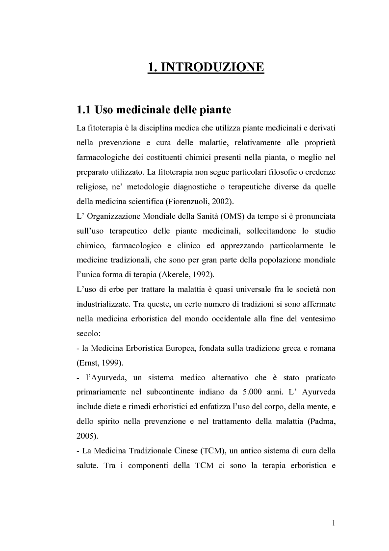 Anteprima della tesi: Effetto di un estratto di Boswellia serrata e di acido 3-o-acetil-11-cheto-beta-boswellico sulle metalloproteasi di matrice 2 e 9 di cheratinociti, Pagina 1