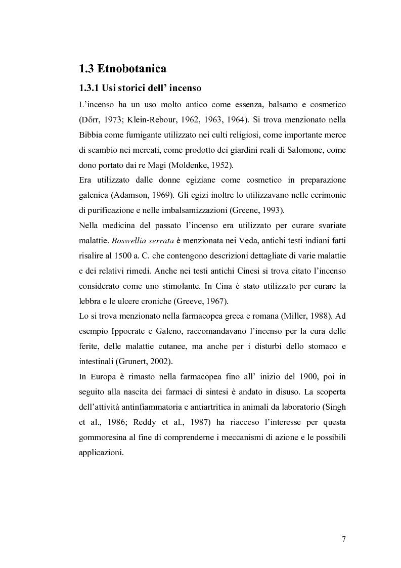 Anteprima della tesi: Effetto di un estratto di Boswellia serrata e di acido 3-o-acetil-11-cheto-beta-boswellico sulle metalloproteasi di matrice 2 e 9 di cheratinociti, Pagina 7