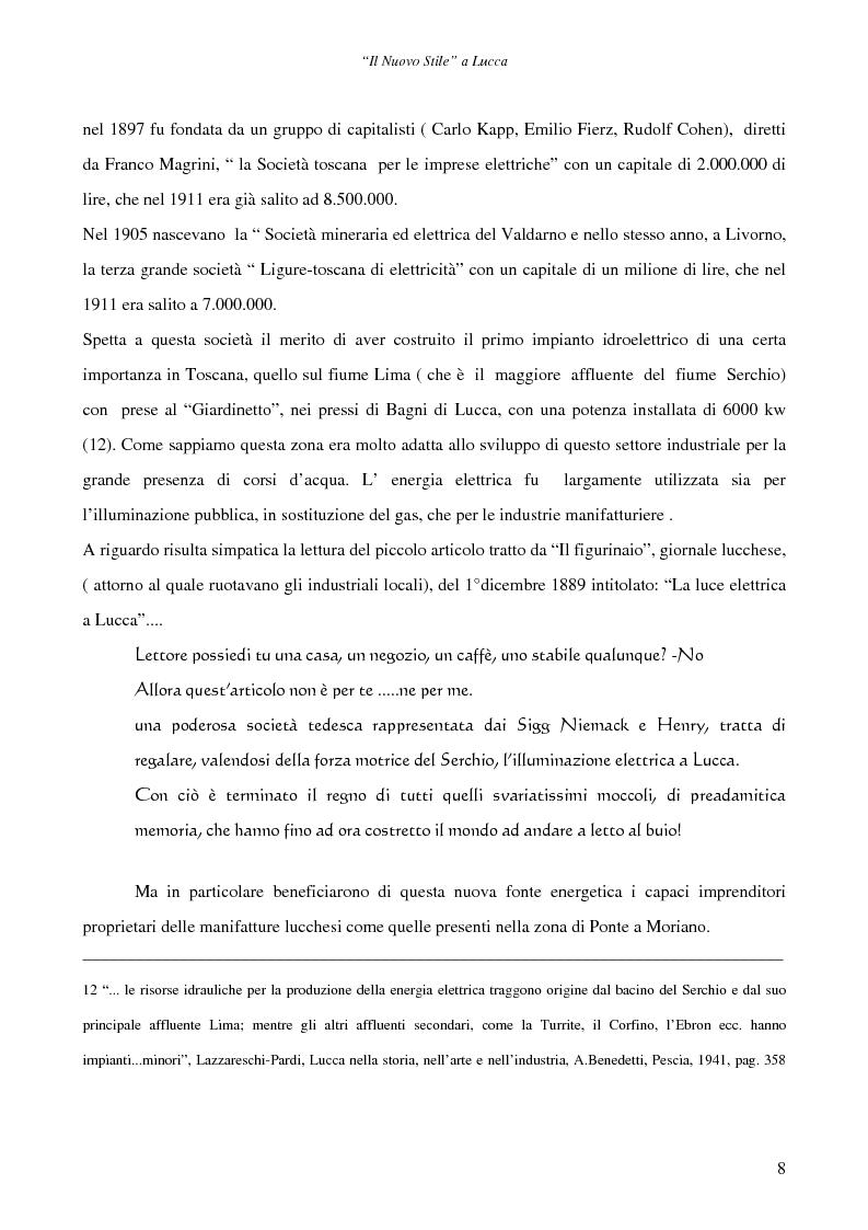 Anteprima della tesi: Il ''Nuovo Stile'' a Lucca - Gli artigiani del cemento tra fine ottocento ed inizi novecento, Pagina 6