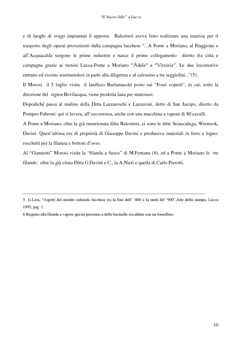 Anteprima della tesi: Il ''Nuovo Stile'' a Lucca - Gli artigiani del cemento tra fine ottocento ed inizi novecento, Pagina 8