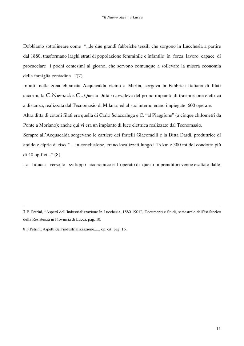Anteprima della tesi: Il ''Nuovo Stile'' a Lucca - Gli artigiani del cemento tra fine ottocento ed inizi novecento, Pagina 9
