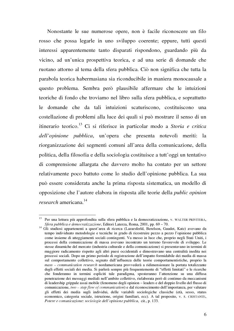 Anteprima della tesi: L'opinione pubblica nel pensiero politico del primo Habermas, Pagina 4