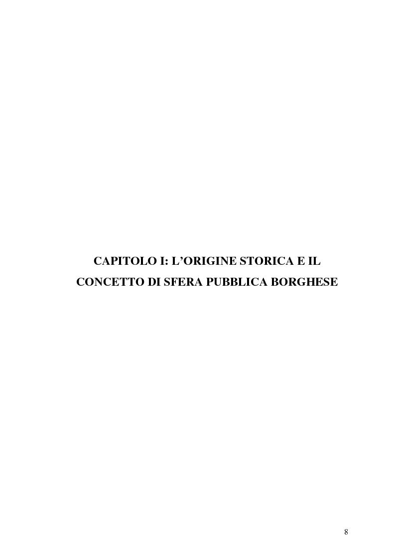 Anteprima della tesi: L'opinione pubblica nel pensiero politico del primo Habermas, Pagina 6