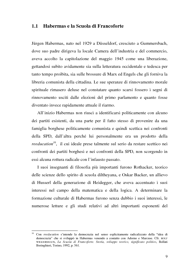 Anteprima della tesi: L'opinione pubblica nel pensiero politico del primo Habermas, Pagina 7