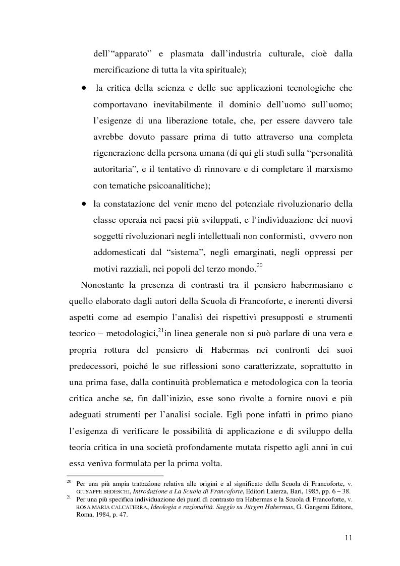 Anteprima della tesi: L'opinione pubblica nel pensiero politico del primo Habermas, Pagina 9