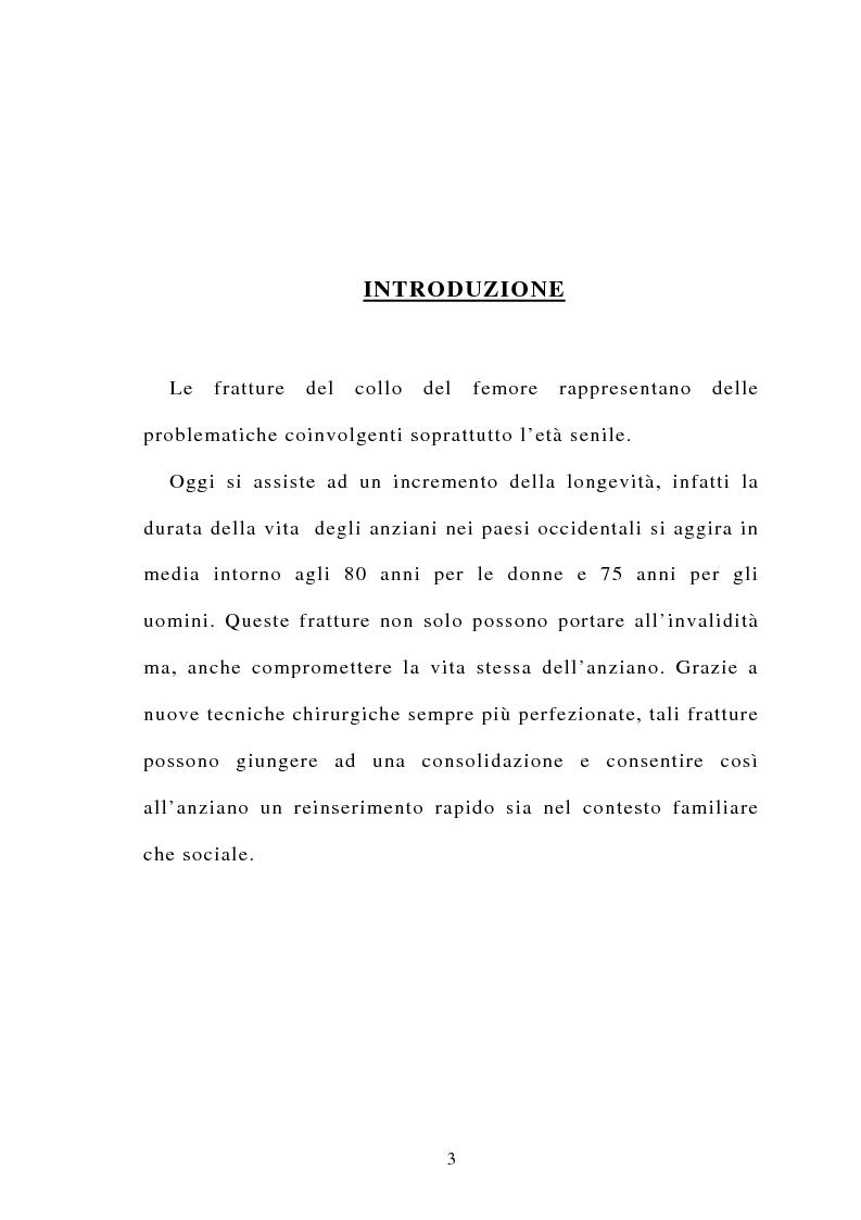 Anteprima della tesi: La frattura del collo del femore nell'anziano, Pagina 1