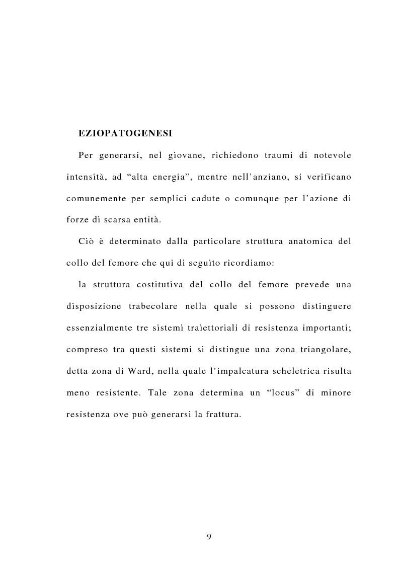 Anteprima della tesi: La frattura del collo del femore nell'anziano, Pagina 7