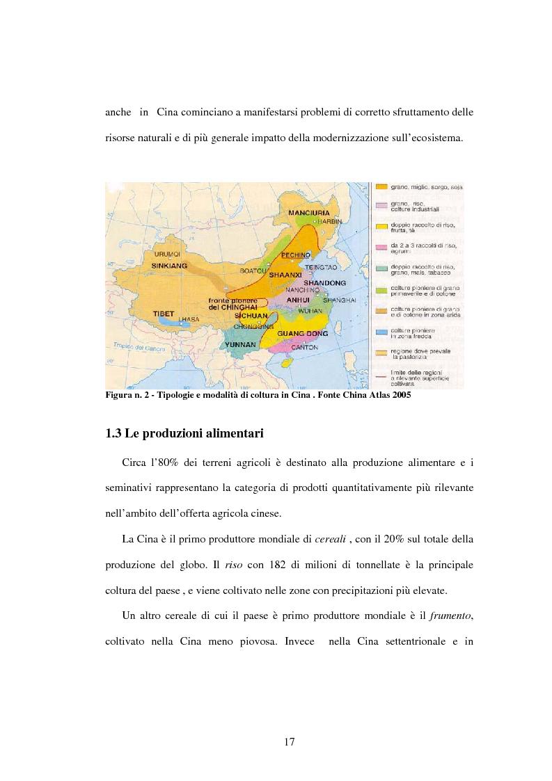 Anteprima della tesi: Prodotti agroalimentari: rapporti Italia-Cina. Il commercio, il rischio della concorrenza e le opportunità di un nuovo mercato, Pagina 11